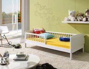 Pat alb Junior pentru copii – 140 x 70 cm  140x70cm
