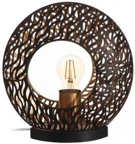 Veioza rotunda din alama 25 cm Bronze Ixia
