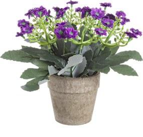 Ghiveci cu flori artificiale mov Joy ø17x8h