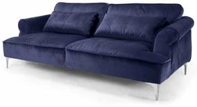 Canapea Manhattan albastra 242/114/89 cm