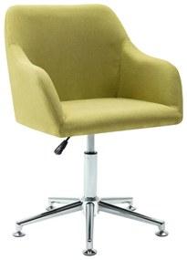 278510 vidaXL Scaun de birou pivotant, verde, material textil