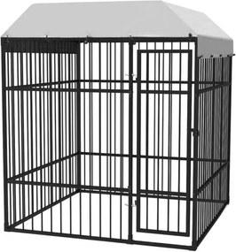 Cușcă de exterior pentru câini, acoperiș, 195 x 195 x 230 cm