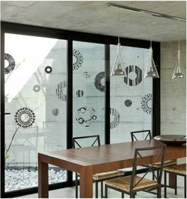 Autocolant Ambiance Grey And Black Circles