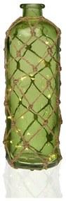 Sticla deco cu led Versa Botty verde