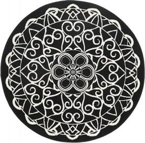 Covor rotund Zala Living Capri, ø 140 cm, negru