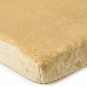 Cearșaf de pat 4Home microflanel, bej, 160 x 200 c, 160 x 200 cm