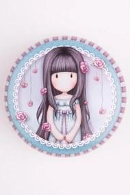 Santoro lumanare colorata in cutie metalica Gorjuss Rosie/Rosebud