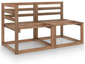 316194 vidaXL Set mobilier de grădină, 2 piese, maro, lemn pin tratat