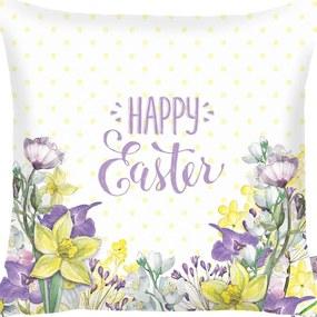 Față de pernă Apolena Happy Easter Field Flowers, 43 x 43 cm