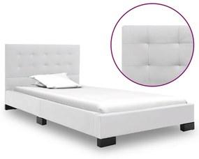 280632 vidaXL Cadru de pat, alb, 90 x 200 cm, piele artificială