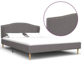 280649 vidaXL Cadru de pat, gri deschis, 140 x 200 cm, material textil