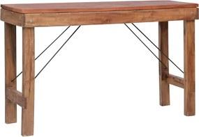 283940 vidaXL Masă consolă pliabilă, 130 x 40 x 80 cm, lemn masiv reciclat