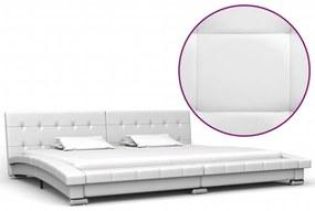 280626 vidaXL Cadru de pat, alb, 200 x 180 cm, piele artificială