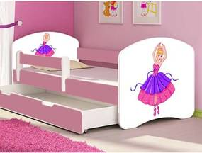 MyKids - Patut tineret Ballerina cu sertar si saltea 140x70