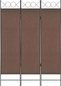 Paravan de cameră cu 3 panouri, maro, 120 x 180 cm