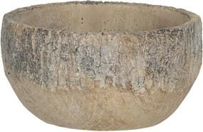 Ghiveci din ceramica maro Ø 23 cm x 11 cm