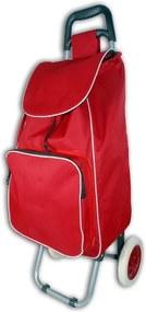Geantă cumpărături cu roți și buzunar termic JOCCA, roșu