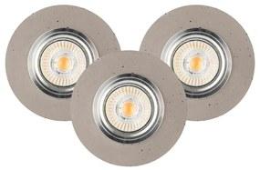 Spot-Light 2511336 - SET 3x Lampă încastrată LED VITAR 3xGU10/5W/230V