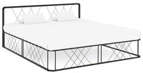 284593 vidaXL Cadru de pat, negru, 200 x 200 cm, metal
