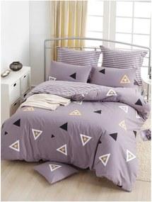 Lenjerie de pat din bumbac ranforce pentru pat de 1 persoană Mijolnir Erois Lilac, 140 x 200 cm
