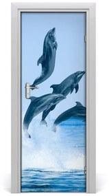 Autocolante pentru usi ușă sărind delfini autoadezive