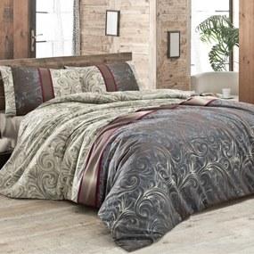 Lenjerie de pat cu cearșaf pentru pat dublu și 2 fețe de pernă Hurrem 200 x 220 cm
