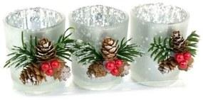 Set 3 pahare decorative pentru lumanare, 5.5x6.5 cm