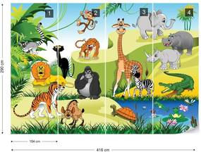 Fototapet GLIX - Cartoon Animals  + adeziv GRATUIT Tapet nețesute - 254x184 cm