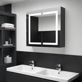 325545 vidaXL Dulap de baie cu oglindă și LED, 80x12,2x68 cm