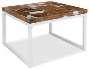 244554 vidaXL Măsuță de cafea din tec și rășină, 60 x 60 x 40 cm