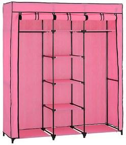 [neu.holz]® Dulap haine - dulap textil depozitare (175x150cm) roz