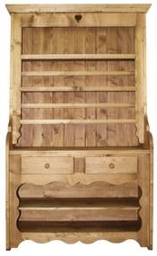 Blidar Rustic din lemn natur 120x45x207 cm