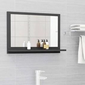804564 vidaXL Dulap de baie cu oglindă, gri, 60 x 10,5 x 37 cm, PAL