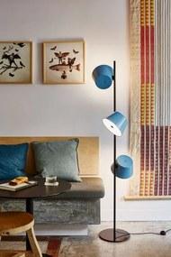 Tam Tam P 3 Single - Lampă de podea cu 3 abajururi albastre