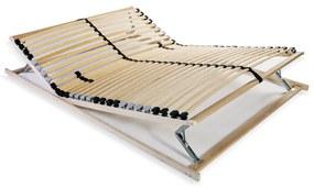 246459 vidaXL Bază de pat cu șipci, 28 șipci, 7 zone, 120 x 200 cm