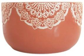 Bol Ceramica MANDALA, 320 ML, culoarea Caramiziu