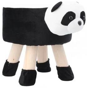 Scaun taburet pentru copii, model urs panda 28x30 cm