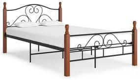 324934 vidaXL Cadru de pat, negru, 120 x 200 cm, metal