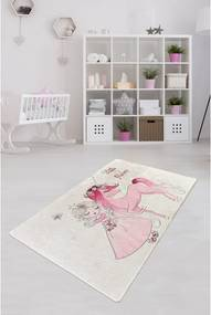 Covor antiderapant pentru copii Chilai Little Princess, 100 x 160 cm