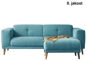 Canapea cu taburet Bobochic Paris Luna, albastru turcoaz
