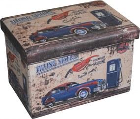 Taburet Design Vintage, dimensiune 48 x 32 cm