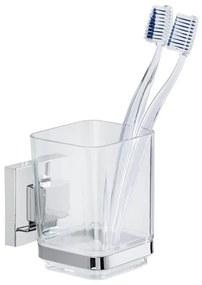 Suport pentru periuțe Wenko cu sistem de prindere Vacuum-Loc, până la 33kg