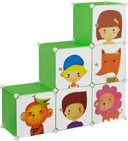 [neu.haus]® Dulap copii - dulap depozitare verde - DIY sistem asamblare raft
