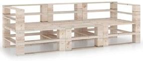 3066020 vidaXL Canapea de grădină din paleți, 3 locuri, lemn de pin