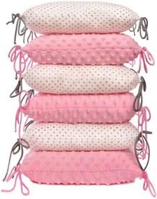 pernă la cribs roz și alb
