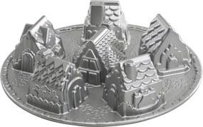 Formă pentru 6 mini prăjituri Nordic Ware Village, 1,5 l