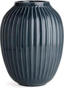Vază din gresie Kähler Design Hammershoi, antracit, înălțime 25 cm