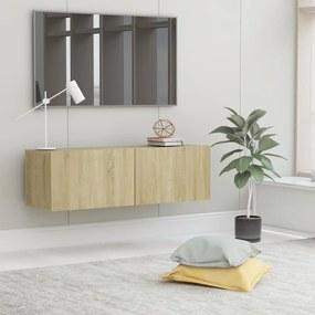 801484 vidaXL Comodă TV, stejar Sonoma, 100 x 30 x 30 cm, PAL