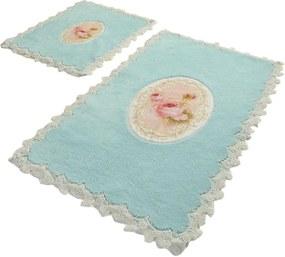 Set 2 Covorase de Baie - French Pearl Dreptunghiular Mint