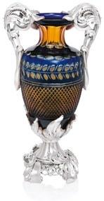 Vaza cristal si argint Baroque